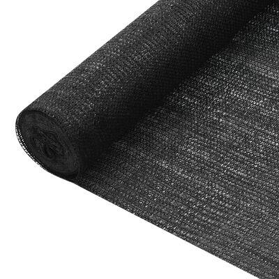 vidaXL Insynsskyddsnät svart 1,5x25 m HDPE 75 g/m²