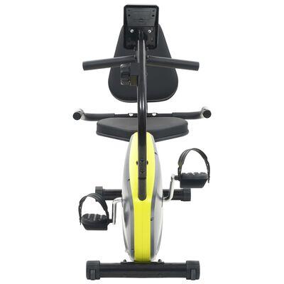 vidaXL Liggande motionscykel magnetisk drift och pulsmätning