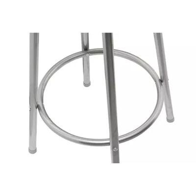 vidaXL Barstolar 2 st brun stål