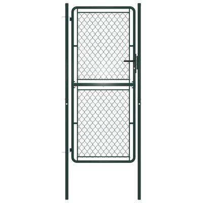 vidaXL Trädgårdsgrind stål 100x200 cm grön