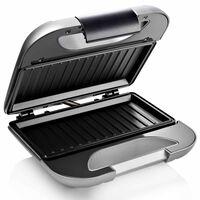Princess Smörgåsgrill Deluxe svart 750W grå