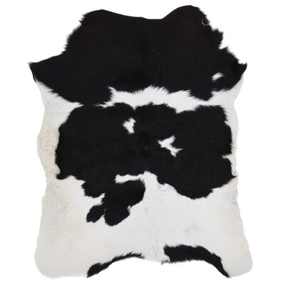 vidaXL Kalvskinn svart och vit 70x100 cm