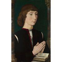 A Young Man at Prayer,Hans Memling,39x25.4cm