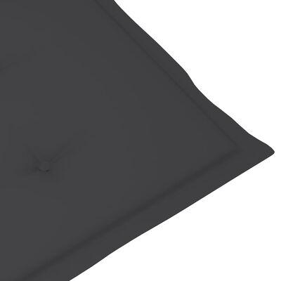 vidaXL Stolsdynor för trädgården 4 st 120x50x4 cm antracit