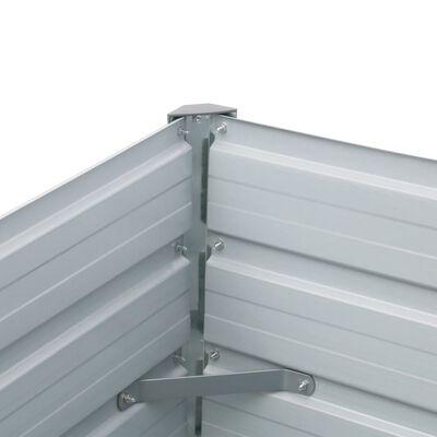 vidaXL Odlingslåda upphöjd galvaniserat stål 320x40x45 cm antracit