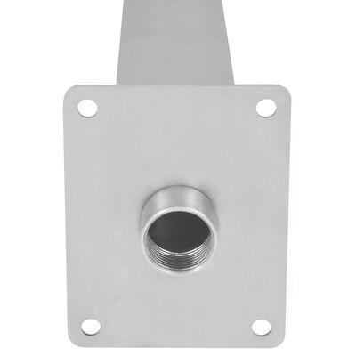 vidaXL Poolfontän rostfritt stål 50x30x90 cm silver