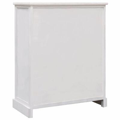 vidaXL Byrå vit 60x30x75 cm trä,
