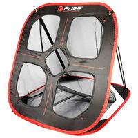 Pure2Improve Popup övningsnät för golf 82x80x88cm svart och röd