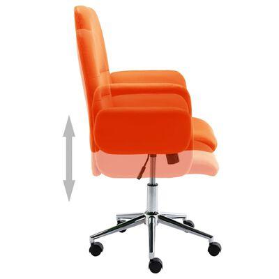 vidaXL Kontorsstol orange konstläder