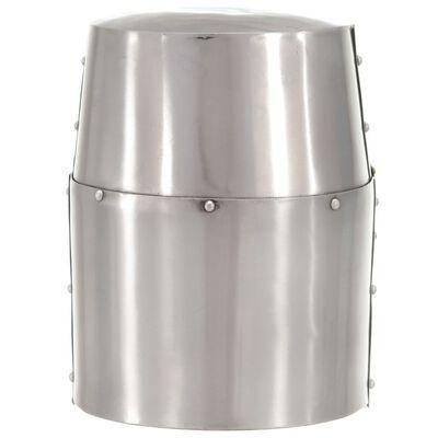 vidaXL Medeltida korsriddarhjälm för LARP silver stål