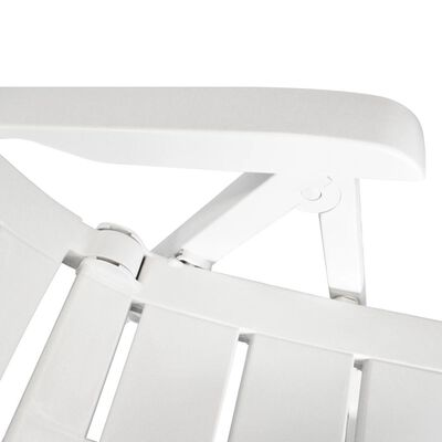 vidaXL Caféset 3 delar plast vit