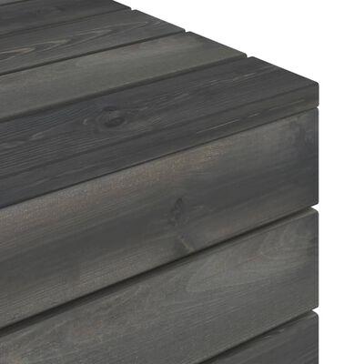 vidaXL Pallbord massiv furu mörkgrå