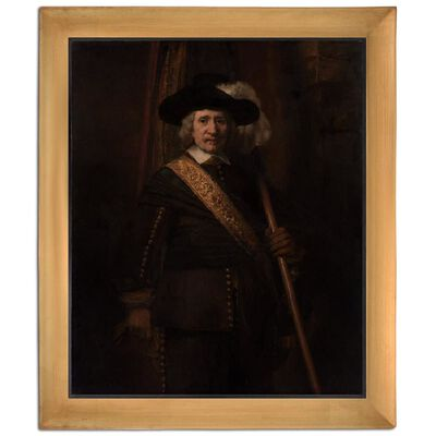 Med ram Portrait of,REMBRANDT Harmenszoon van Rijn,60x50cm