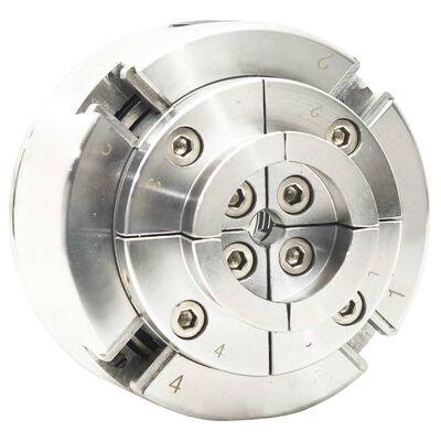 vidaXL 4-backs svarvchuck med M33-koppling stål silver 96 mm