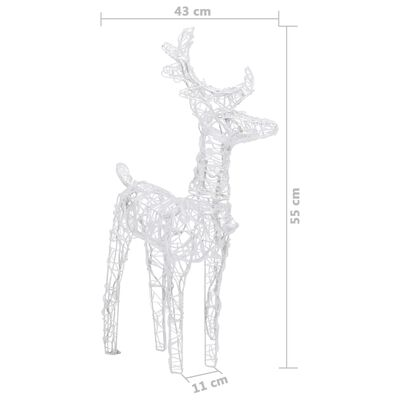 vidaXL Juldekoration ren & släde 280x28x55 cm akryl