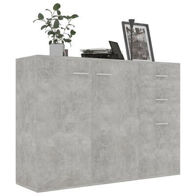 vidaXL Skänk betonggrå 105x30x75 cm spånskiva