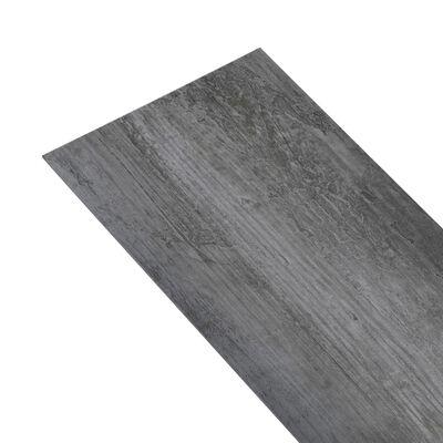 vidaXL Golvbrädor i PVC 5,26 m² 2 mm glansig grå