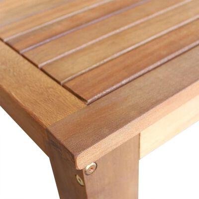 vidaXL Barbord med barstolar 5 delar massivt akaciaträ