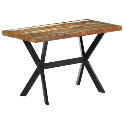 vidaXL Matbord 120x60x75 cm massivt återvunnet trä