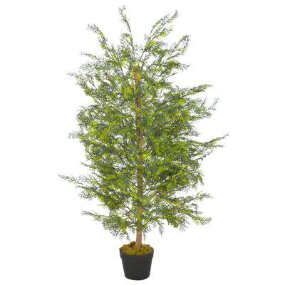 vidaXL Konstväxt Cypressträd med kruka 120 cm grön