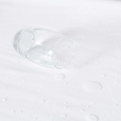 vidaXL Dra-på-lakan vattentäta 2 st bomull 60x120 cm vit,