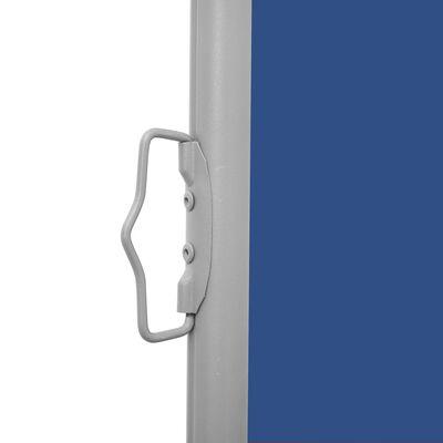 vidaXL Infällbar sidomarkis 140x600 cm blå