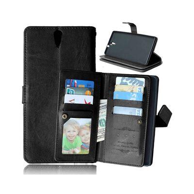 Dubbelflip Flexi 9-kort Sony Xperia C5 Ultra Dual (E5563) Svart