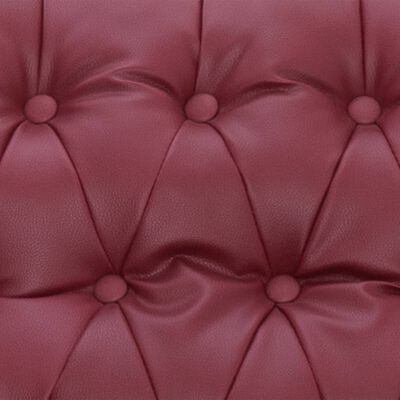 vidaXL Massagefåtölj vinröd konstläder