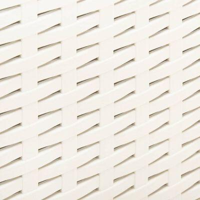 vidaXL Trädgårdsbord vit 53x53x40 cm plast