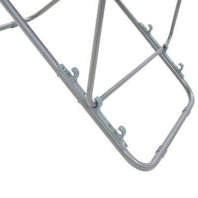 vidaXL Hopfällbara strandstolar 2 st stål och oxfordtyg brun