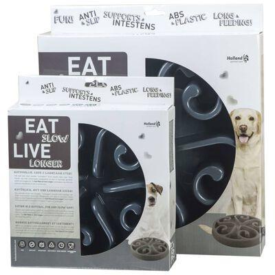 EATSLOWER LE LONGER Aktiveringsmatskål Original grå S
