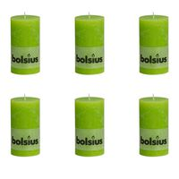 Bolsius Blockljus 130x68 mm limegrön 6-pack