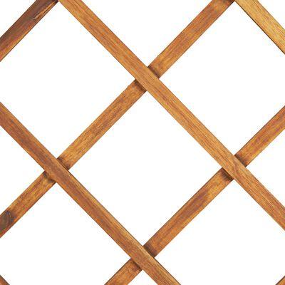 vidaXL Odlingslåda upphöjd med spaljé 80x38x150 cm massivt akaciaträ,