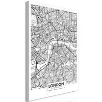Tavla - Map Of London (1 Part) Vertical - 80x120 Cm