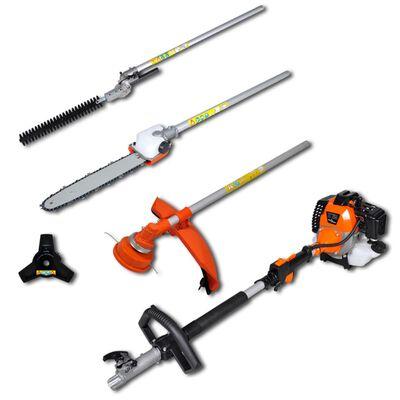 vidaXL Multiverktyg 4-i-1 häck- & grästrimmer, motorsåg och häcksax