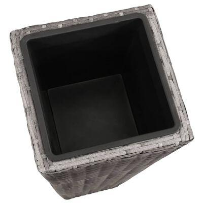 vidaXL Blomkrukor upphöjda 3 st konstrotting grå