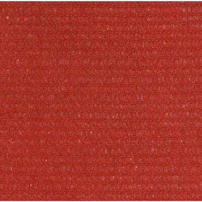 vidaXL Solsegel 160 g/m² röd 5x5 m HDPE, Red