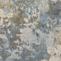 DUTCH WALLCOVERINGS Tapet betonggrå och grön