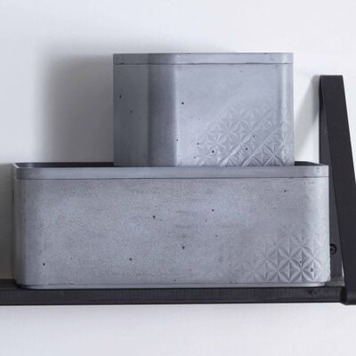 Curver Beton Förvaringslåda med lock 3 st strl. M ljusgrå