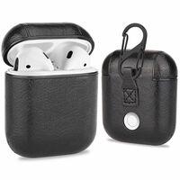 Fodral till Apple AirPods - PU-läder - svart