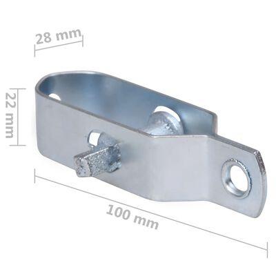 vidaXL Trådspännare 10 st 100 mm stål silver