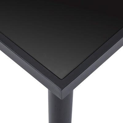 vidaXL Matbord svart 140x70x75 cm härdat glas