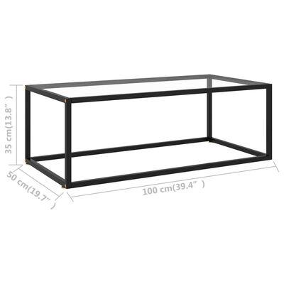 vidaXL Soffbord med härdat glas 100x50x35 cm