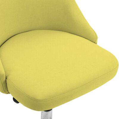 vidaXL Rullbara kontorsstolar 2 st gul tyg