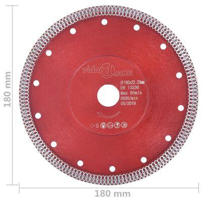vidaXL Diamantklinga med hål 180 mm
