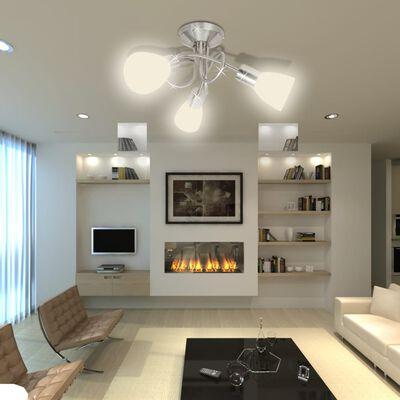 Taklampa med ovala glasskärmar för 3 E14-lampor
