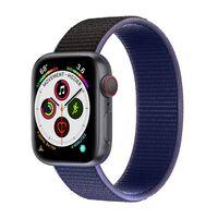 Apple Watch 5 (44mm) Nylon Armband - Midnight Black