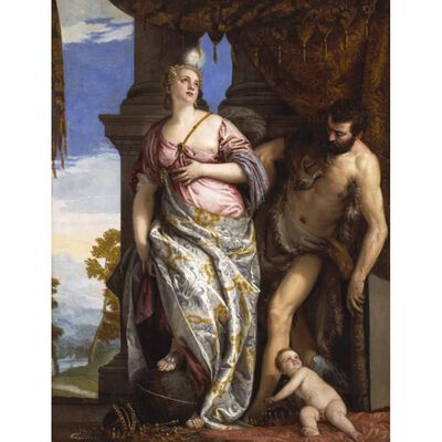 Allegory of Wisdom and Strength,Paolo Veronese,50x38cm