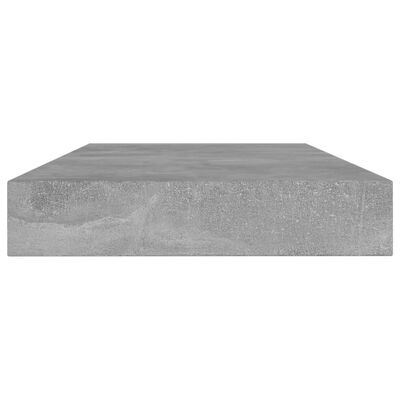 vidaXL Hyllplan 4 st betonggrå 80x10x1,5 cm spånskiva