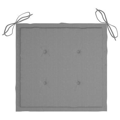 vidaXL Regissörsstolar med dynor 2 st grå massivt akaciaträ